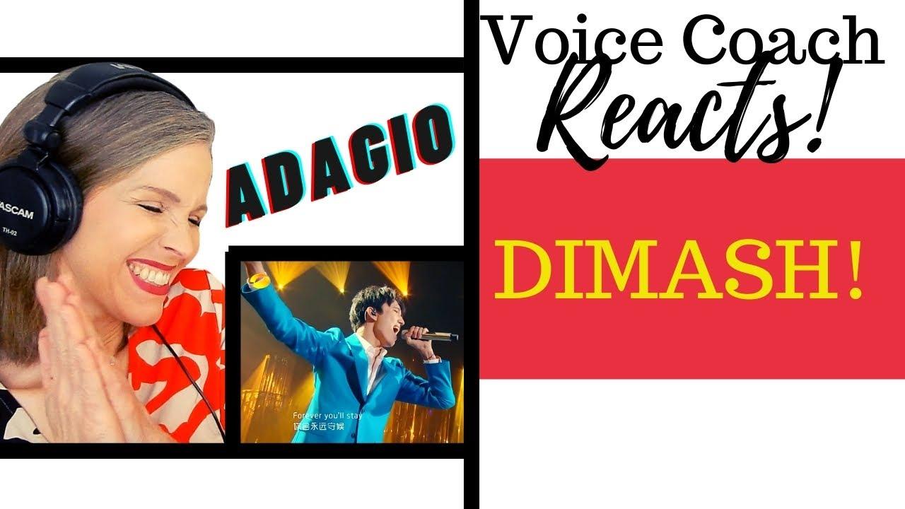 DIMASH KUDAIBERGEN | THE SINGER 2017《Adagio》Voice Coach Reacts and Deconstructs