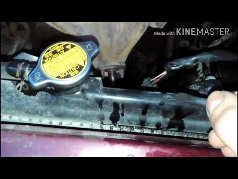 Ремонт радиатора двухкомпонентным клеем