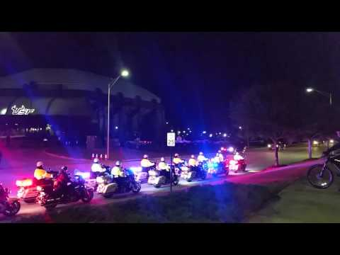 TRUMP USF Tampa Motorcade