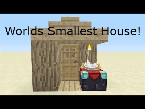 minecraft xbox one smallest house ever