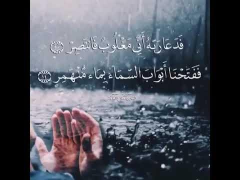 أرح قلبك بدقيقة من القرآن ❤ فدعا ربه انى مغلوب فانتصر ❤ حالات واتس اب دينية❤