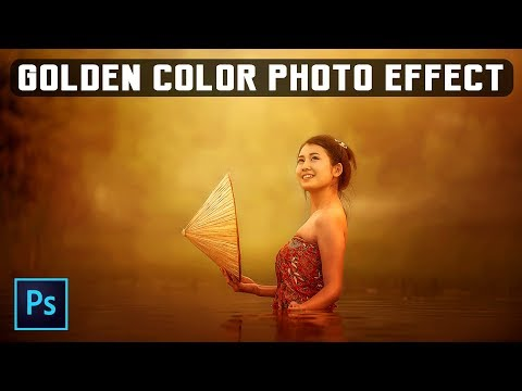 Golden Color Photo Effect - Photoshop Manipulation Tutorial Photoshop CC Tutorial thumbnail