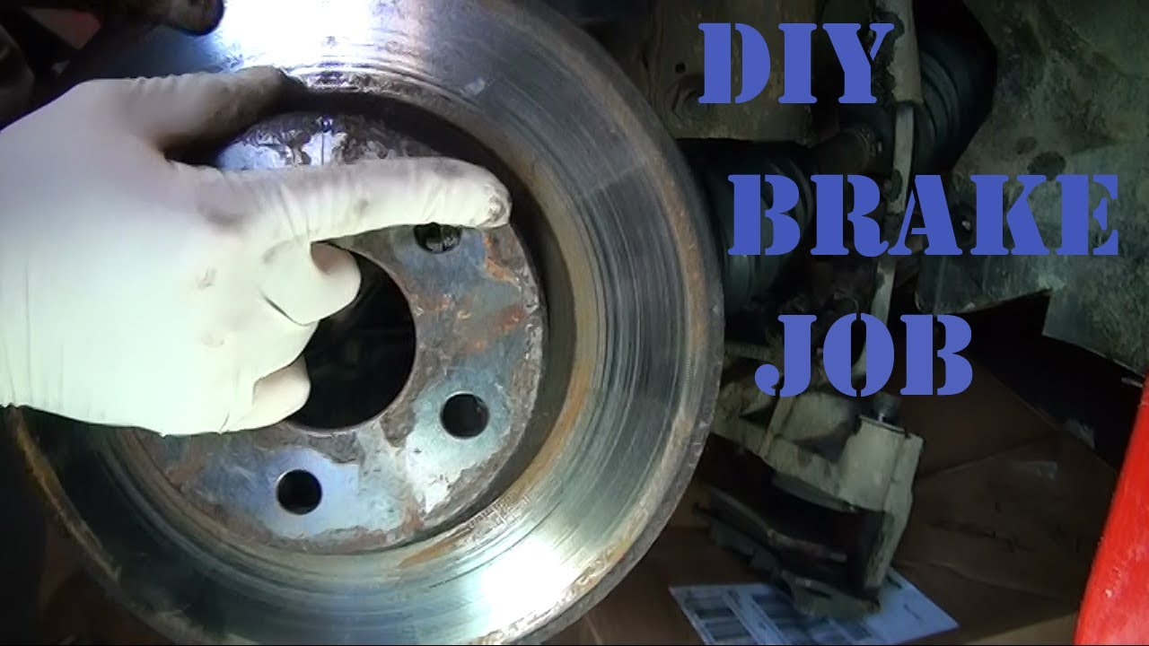 DIY How to Replace Front Brake Pads and Rotors on a 2003 ...