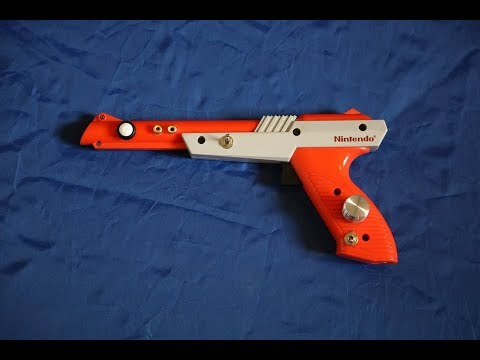 DIY dirty video mixer in a NES ZAPPER GUN