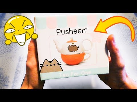 AMAZON UNBOXING- PUSHEEN The Cat - TEA FOR ONE Set REVIEW Teeset Teeservice Japan Kawaii