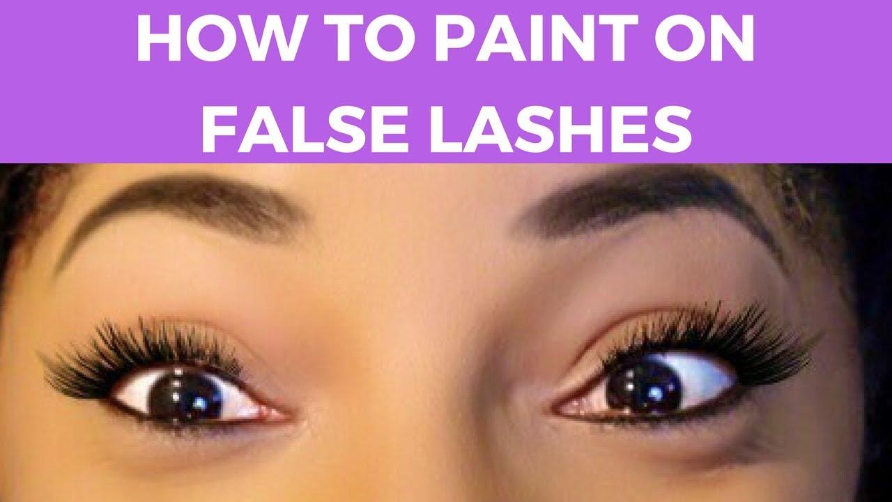 paint on false lashes