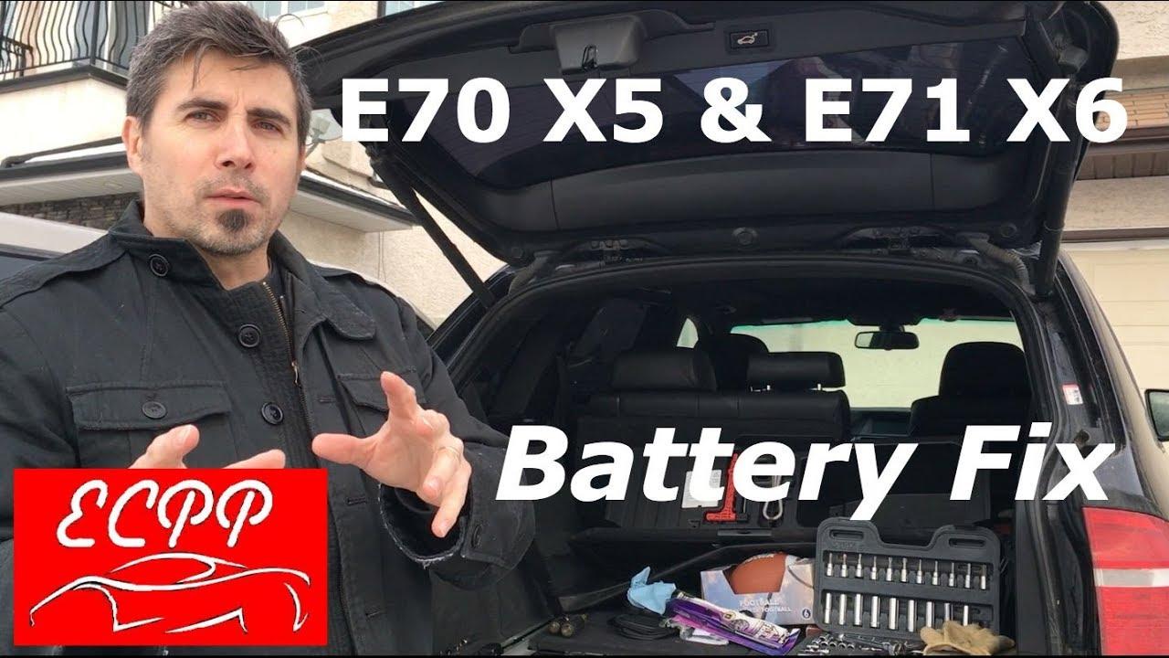 Bmw E70 X5 E71 X6 Battery Replacement Procedure Easy