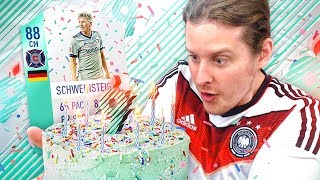 OMG FUT BIRTHDAY BASTIAN SCHWEINSTEIGER PREMIUM SBC CARD! FIFA 18 ULTIMATE TEAM