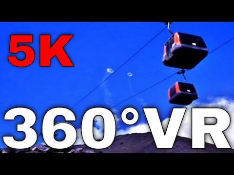 360° VR Cable Car Etna Prices (Funivia Etna Prices Rifugio Sapienza Funicular) 5K Virtual Tour HD 4K