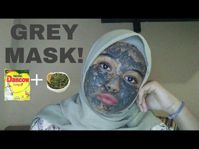 BIKIN MASKER SUSU DANCOW + TEH HIJAU | Grey Mask!