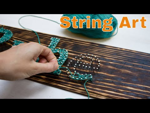 DIY String Art | diy string art tutorial | string art letters | string art for beginners | how to