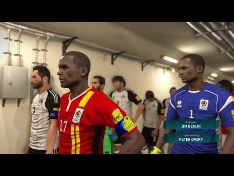 PS4 PES 2017 Gameplay Uganda vs Egypt HD