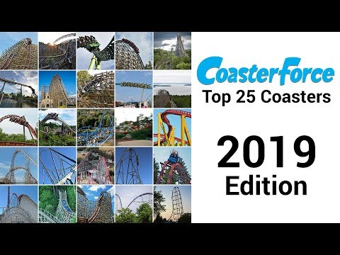 Official CoasterForce 2019 Top 25 Roller Coasters
