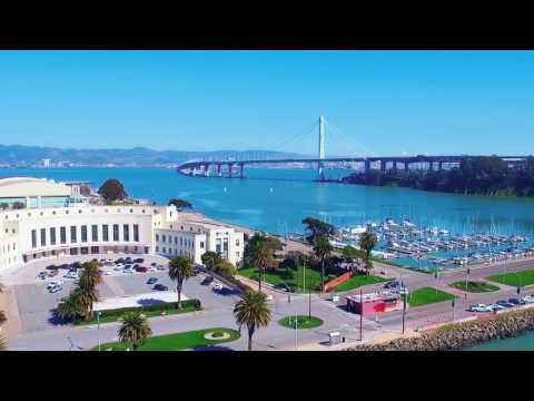 Flying drone in Treasure Island, San Francisco