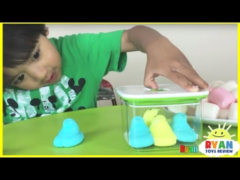 Thumbnail: Marshmallow in a vacuum Easy Science experiment for kids Chubby Bunny Challenge Disney Cars Toys