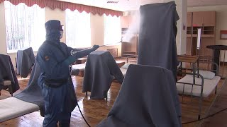 Профилактика коронавируса в армии РФ