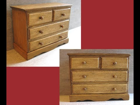 1/12th Scale Chest of Drawers Tutorial