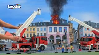 Пожарная машина SCANIA с выдвижной лестницей и помпой 03590 Bruder (Брудер)