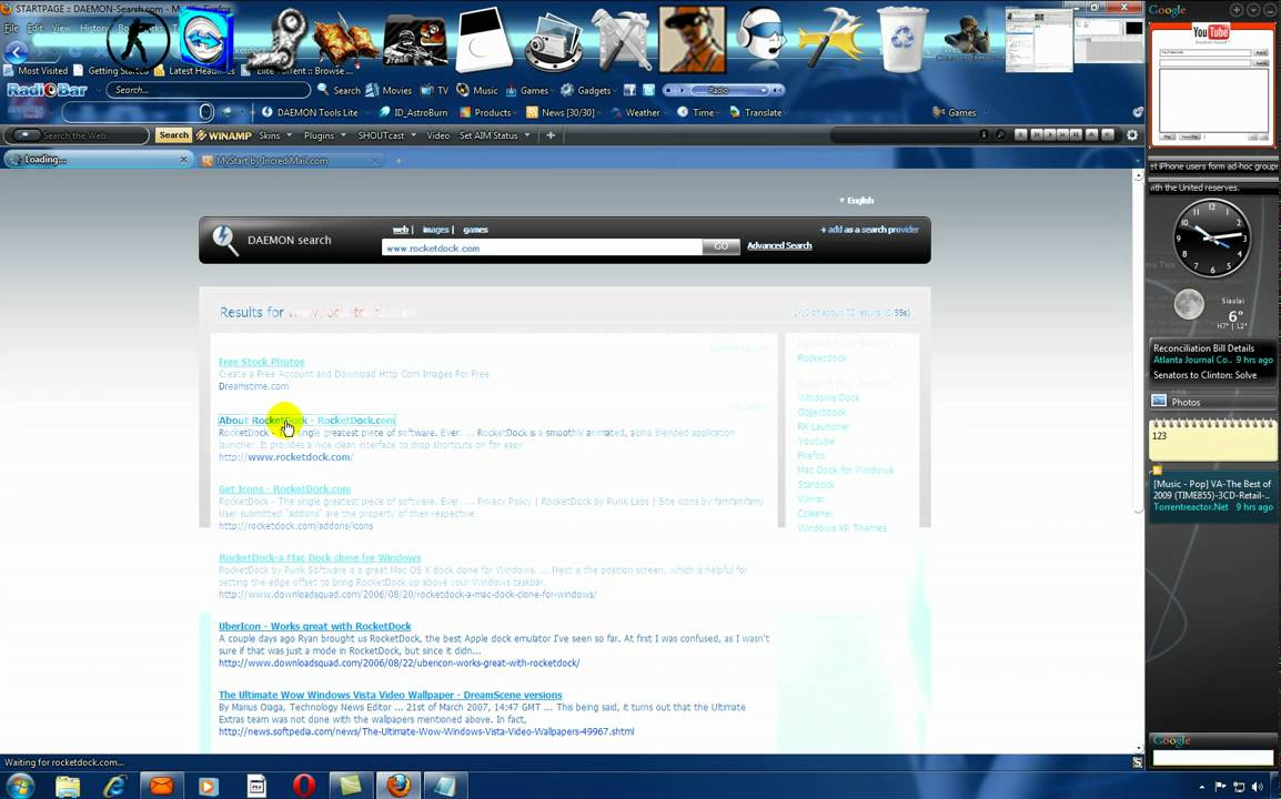 How To Download Rocket Dock Icons,addons,desktop wallpapers,and more