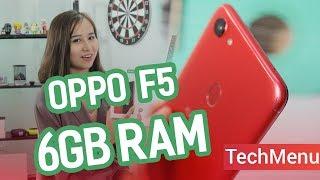 """Mở hộp Oppo F5 6GB RAM """"đỏ quyến rũ"""" ll TECHMENU ll TECHMAG"""