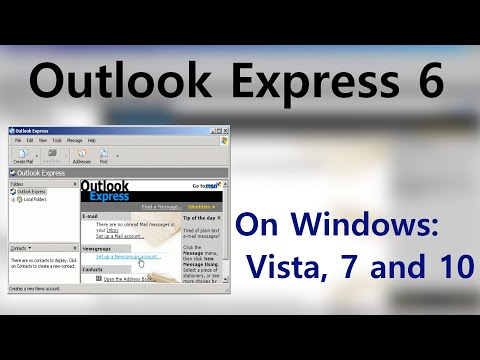 How To Install Outlook Express On Windows Vista/7/8/10