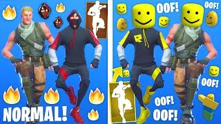 Best Fortnite Dance Emotes With OOF Sound (Roblox Death Sound)