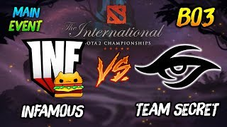 Infamous Gaming vs Team Secret ► The International Dota2 2019 Main Event ( TI9 Day 8 )😎 | dota 2