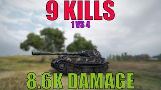 world of tanks vk 45 02 p ausf b 9 kills 8600 damage epic battle 1 vs 4