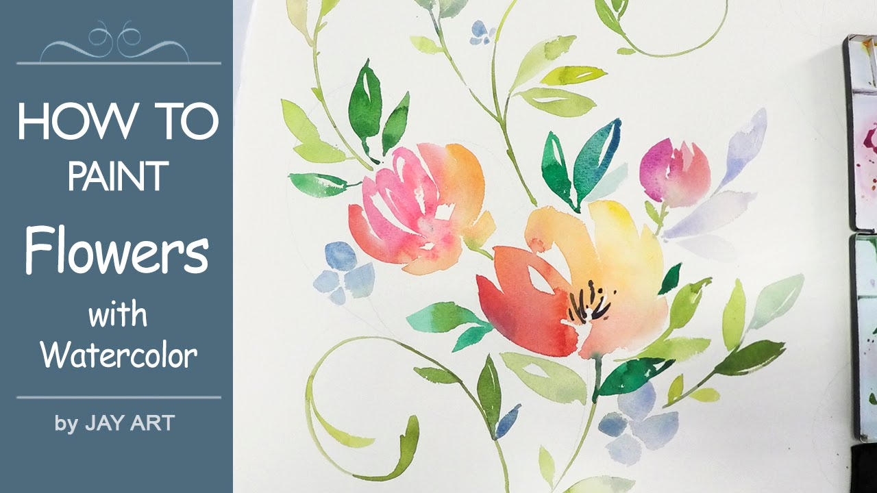 Lvl4 Painting Flowers Floral Watercolor Tutorial Youtube