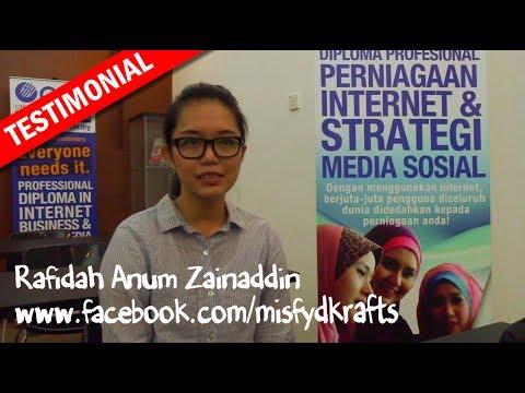 Testimonial - Diploma Profesional Perniagaan Internet dan Strategy Media Sosial
