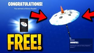 "How To Get The ""SNOWFALL"" in Fortnite Battle Royale! Free Season 7 ""SNOWFALL UMBRELLA"" Glider Guide!"