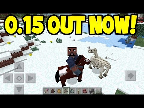 Minecraft Pocket Edition - 0.15.0 Update! - OUT NOW! (IOS/Android)