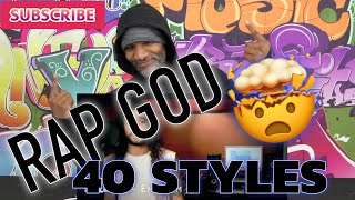 Eminem  Rap God in 40 Styles  Ten Second Songs (Reaction)(Review)
