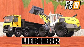 Working With  New Liebherr 550 Xpower Mining & Construction Economy Map Farming Simulator 2019 Mods