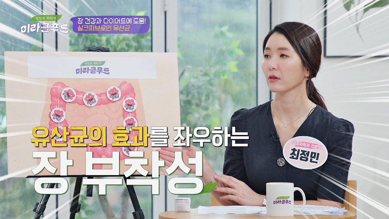 장 부착성 甲 장에 효과적으로 작용하는 '실크피브로인 유산균' 맛있는 이야기 미라클 푸드(Miracle Food) 115회 | JTBC 210619 방송