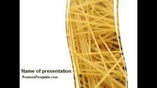 Italian Pasta PowerPoint Template by PoweredTemplate.com