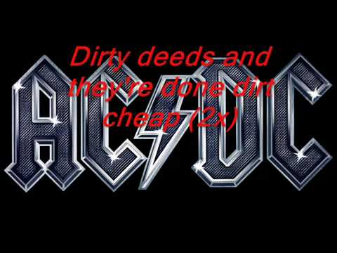 Acdc - Dirty Deeds Lyrics