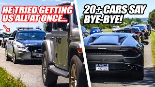 20+ SUPERCARS RUN FROM VIRGINIA STATE POLICE PULLOVER! There's Only 1 Cop...What Can He Do?