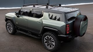 2024 GMC Hummer EV SUV Drive Exterior Interior Extract Crabwalk 4-Wheel Steering Modes Color Options