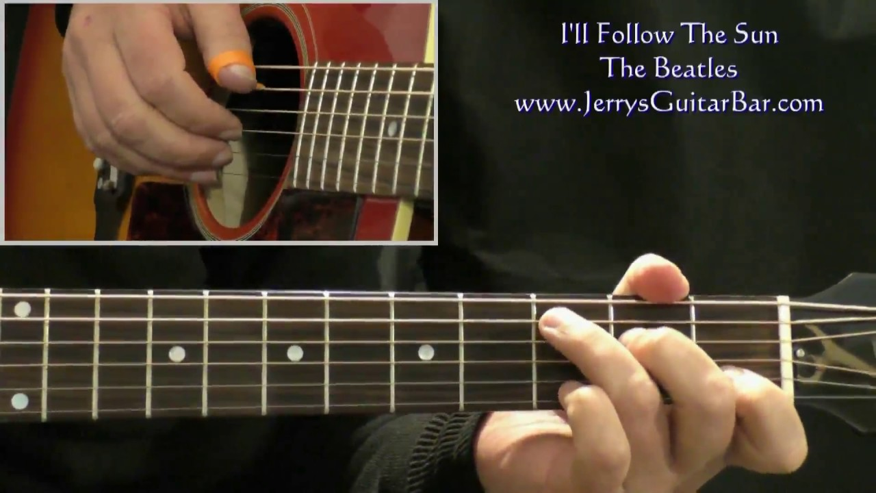 How To Play The Beatles Ill Follow The Sun Intro Only Youtube