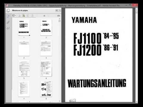 yamaha fj1100 fj1200 workshop repair service manual rh youtube com 1989 Yamaha FJ1200 1980 Yamaha Radian