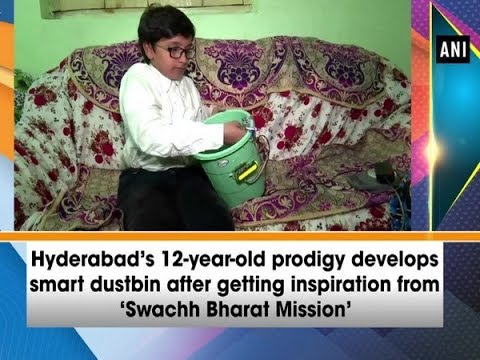 hyderabad's-12-year-old-prodigy-develops-smart-dustbin-after-getting-inspiration