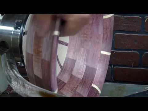 Woodturning a Segmented Purpleheart Bowl