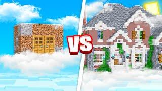 SECRET SKY BASE BUILD CHALLENGE! (MINECRAFT)