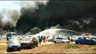 Fire accident in air show 2019