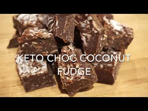 EASY Keto Choc Coconut Fudge