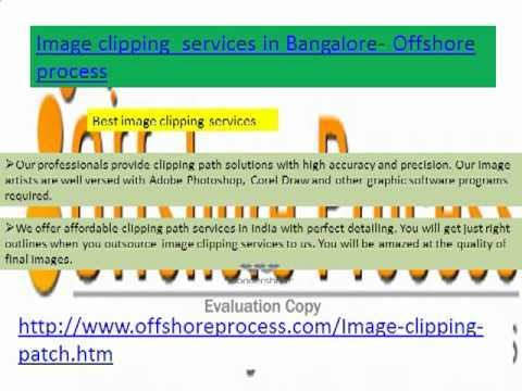 Image Clipping Services in Bangalore - Offshore process