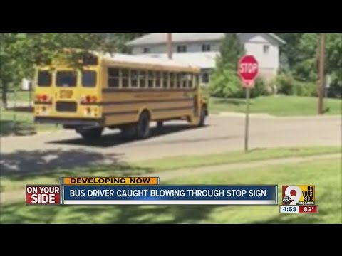 Caught on video: First Student school bus driver runs stop sign, gets fired