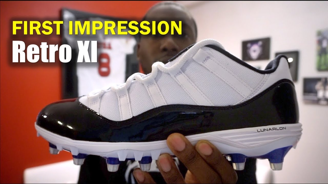 5942b45b26386 JORDAN XI Retro Cleats  1st Impression - YouTube