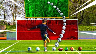 FUßBALL VS FOOTBALL FIELD GOAL CHALLENGE !